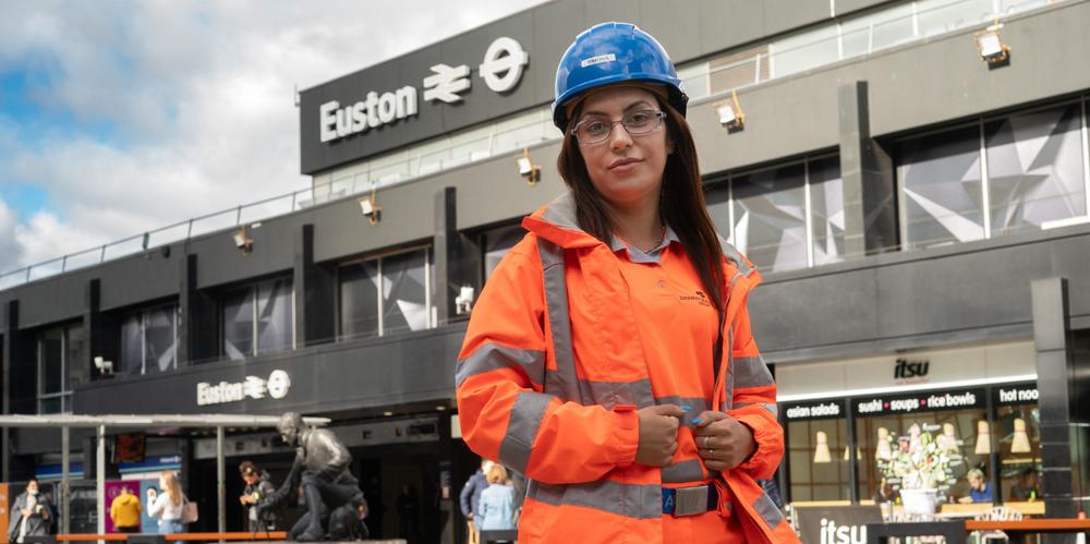 Simona in front of Euston